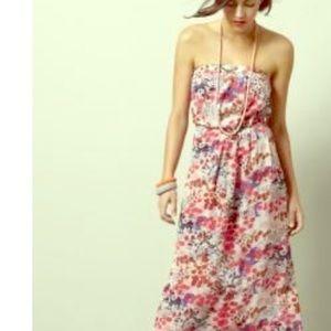 NWT GAP Watercolor Floral Strapless Maxi Dress szS